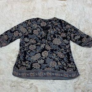 Lucky Brand Paisley Boho Blouse size 2X